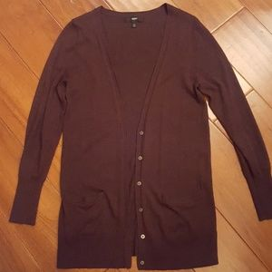 Mossimo brown button-up cardigan